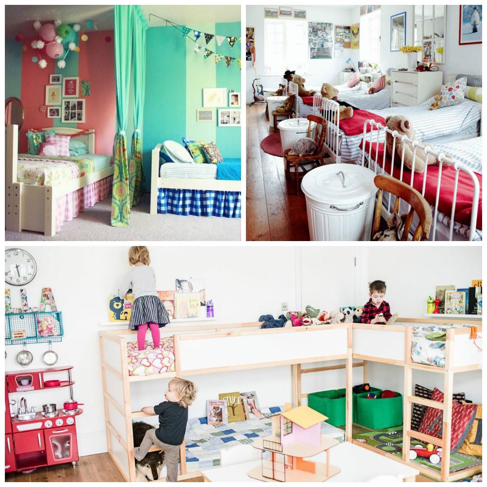 Een gedeelde slaapkamer met broertje of zusje kan heel gezellig zijn!