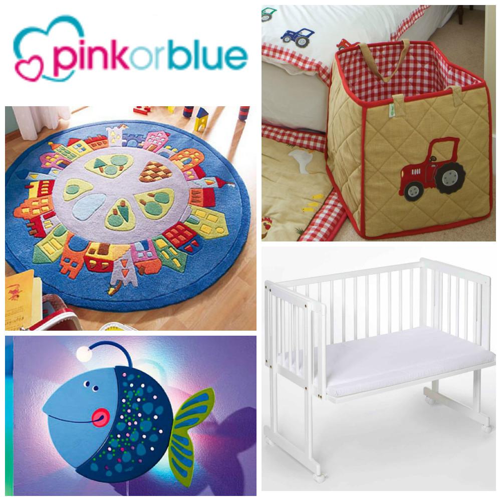 Pink or blue kinderkamer accessoires