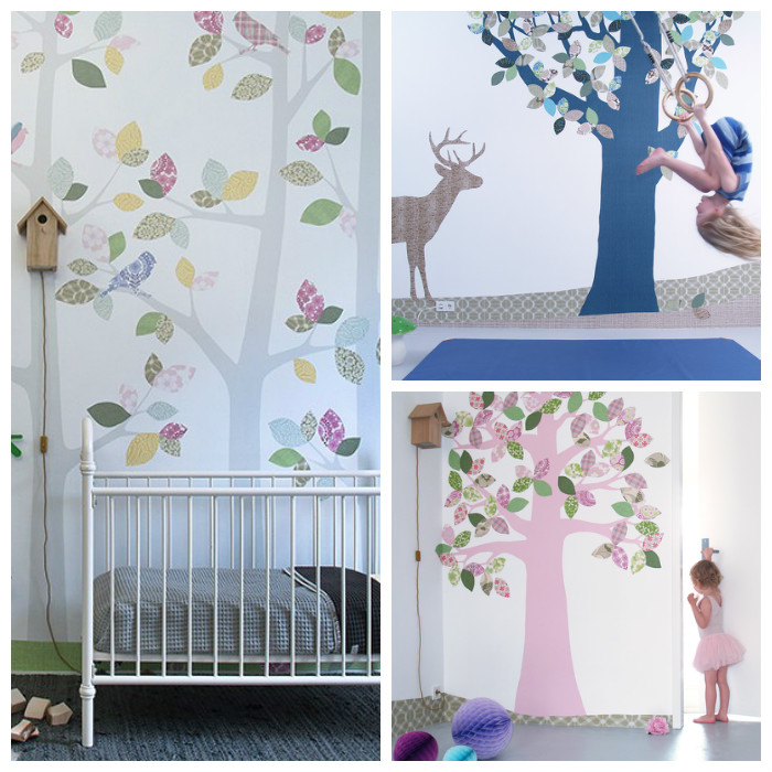 Inke Behang Boom via kinderkamer styling tips
