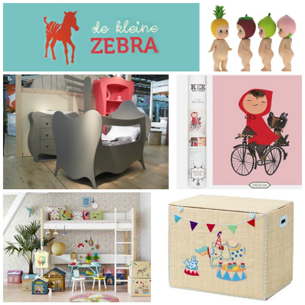 De kleine zebra kinderkamer styling